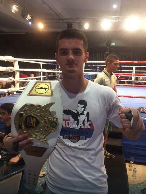 Najbolji niški kik bokser Novak Radulović osvojio pojas u Sarajevu