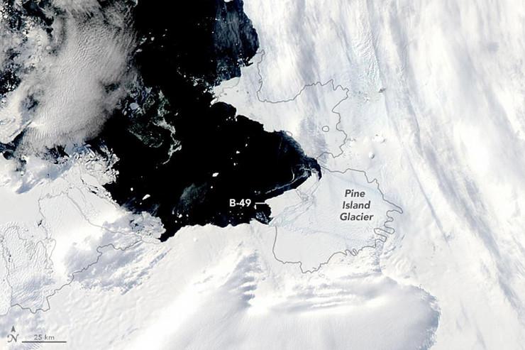 Pine Island foto epa nasa earth observatory