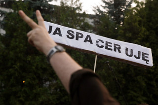 W Warszawie zorganizowano protest przed domem prezesa PiS. 'Ja bez żadnego trybu'
