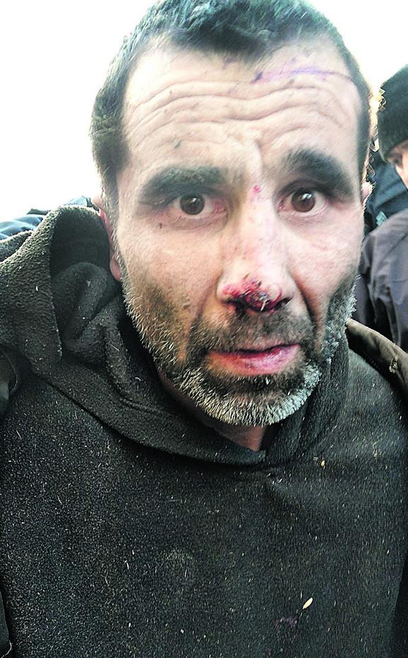 Ninoslav Jovanović u trenutku hapšenja
