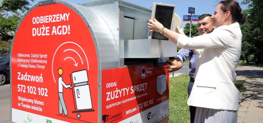 W Łodzi elektrośmieci wyrzucisz teraz do kontenera przed domem. Zobacz gdzie staną pojemniki