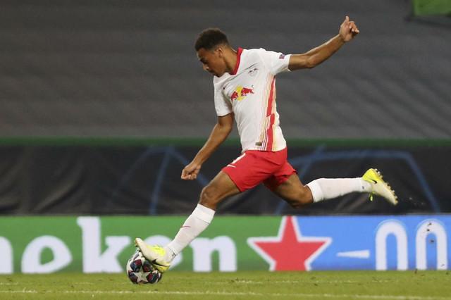 Tajler Adams postiže gol za pobedu Lajpciga nad madridskim Atletikom u četvtfinalu Lige šampiona