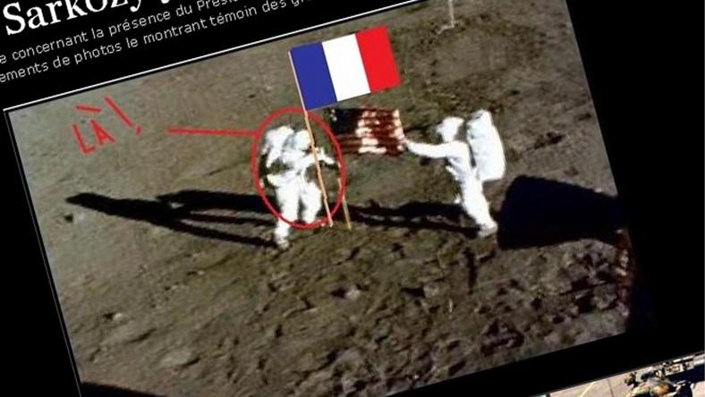 Sarkozy był wszędzie. Nawet na Księżycu