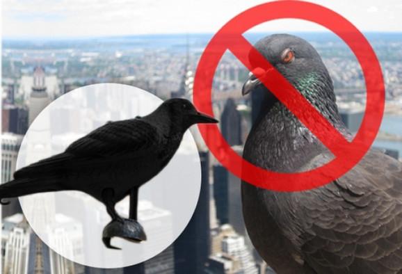 Plastična vrana za plašenje
