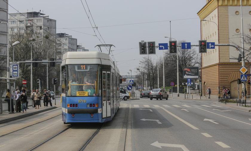 Światła stopują tramwaje