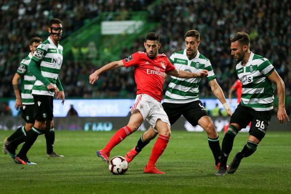 Detalj sa meča između Sportinga i Benfike