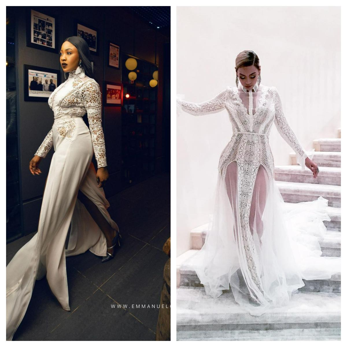 5 times Nigerian celebrities recreated Beyonce's outfits | Pulse Nigeria
