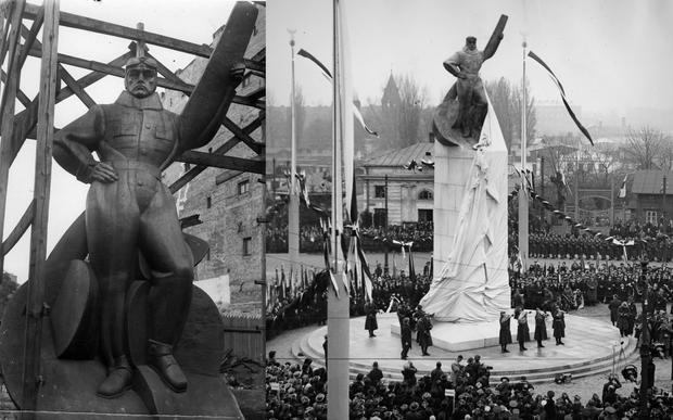 Pomnik Lotnika w Warszawie i jego odsłonięcie na placu Unii Lubelskiej 11 listopada 1932 r.