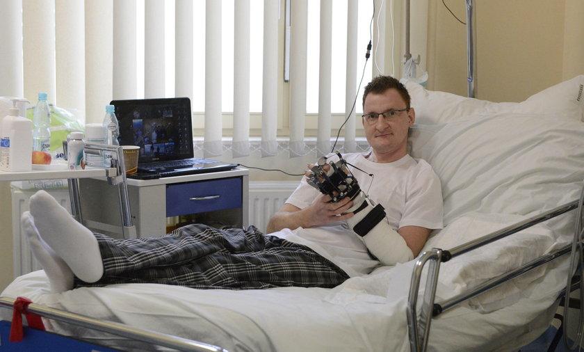 Piotr Tchórz (33 l.), pacjent