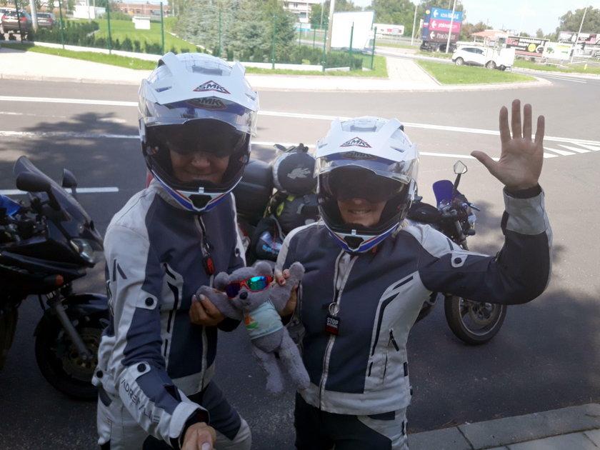 Motocyklistki Sylwia Targowska i Joanna Madej zbierały pieniądze dla chorych dzieci