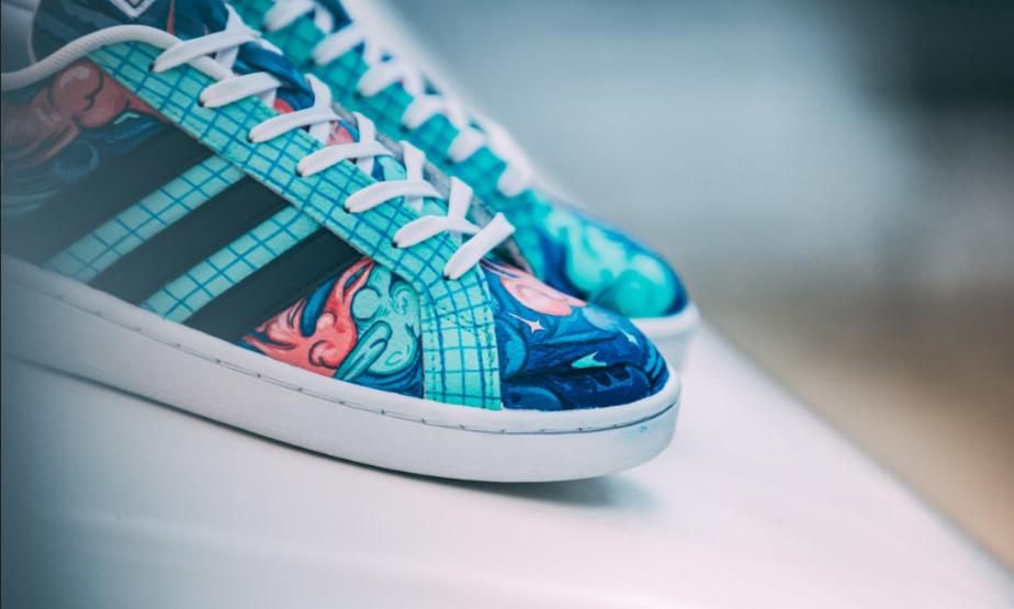 9e3037367f6f8 adidasy z grafiką Lis Kuli i customem Sneaker Boyz Foto: Noizz.pl