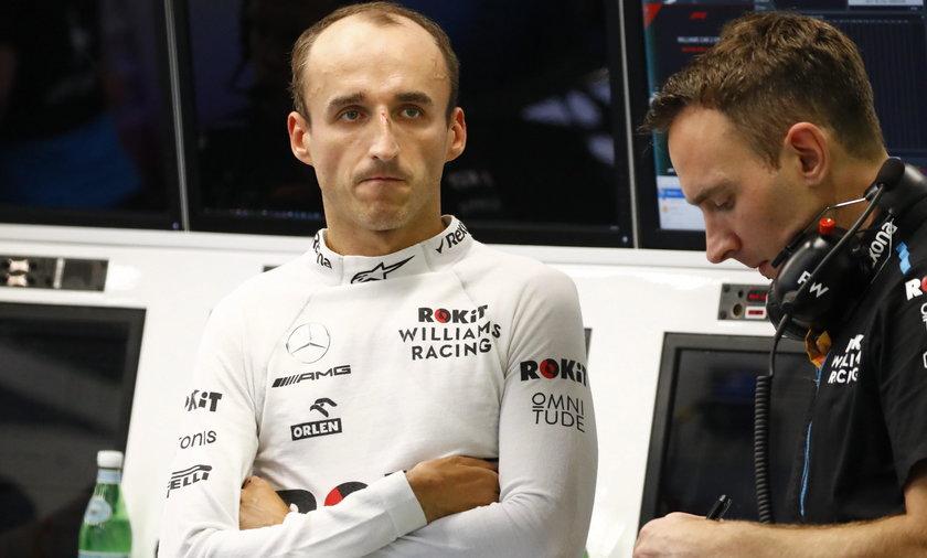 GP Abu Zabi: Kubica osiemnasty na pierwszym treningu
