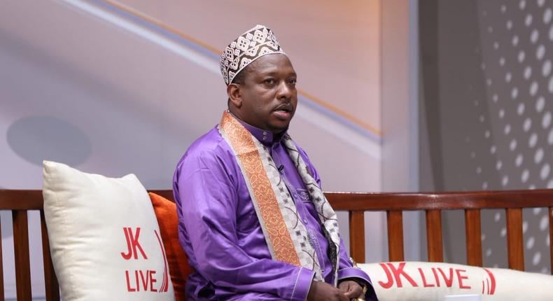 Governor Mike Sonko during a JKL interview