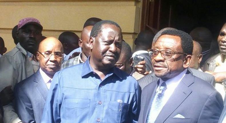 Senator James Orengo and Opposition Leader Raila Odinga