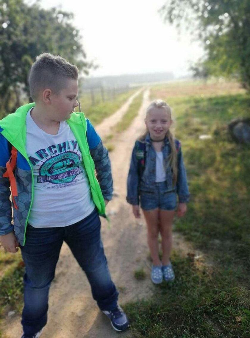 Dawid z siostrą