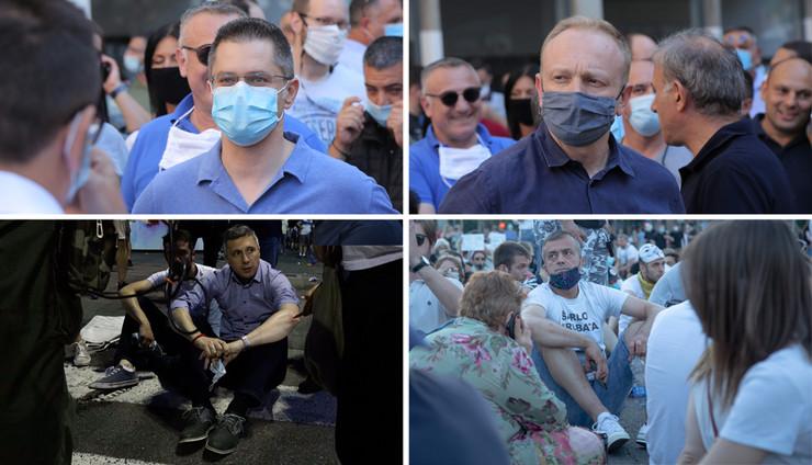 opozicija protest kombo RAS Aleksansadar Slavovic Tanjug Andrija Vukelic