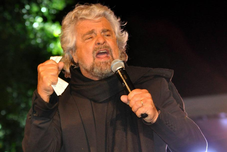Italy, Palermo (Sicily): Campaigning for regional elections. Beppe Grillo, leader of 5-Star Movement