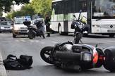 Novi Sad264 saobracajna nesreca na bulevaru oslobodjenja motor motorciklista   foto Nenad Mihajlovic