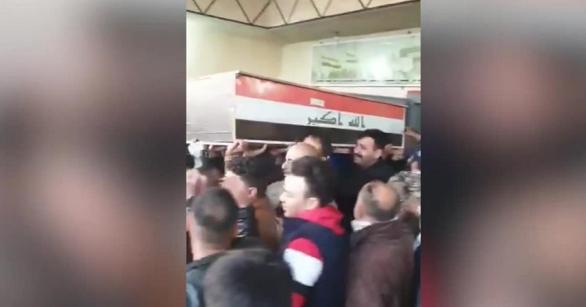 Trumna z ciałem irańskiego generała opuściła szpital w Bagdadzie ...