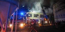 Pożar w dawnych zakładach maszyn