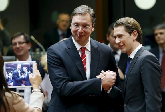 Aleksandar Vučić i Sebastijan Kurc