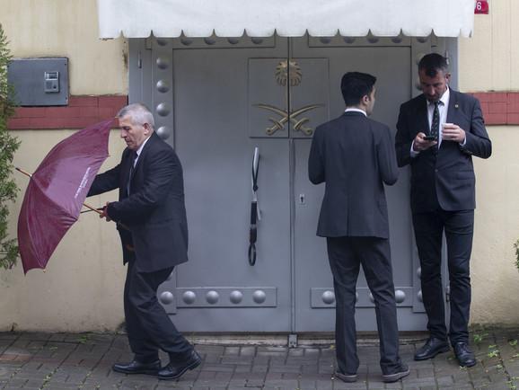 Ulaz u saudijski konzulat u Istanbulu