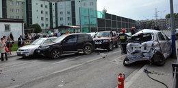 Kierowca staranował 18 aut w Krakowie. Usłyszał wyrok