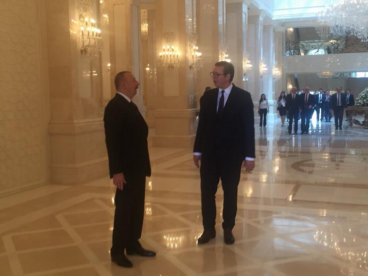 Aleksandar Vučić, Ilham Alijev, Azerbejdžan