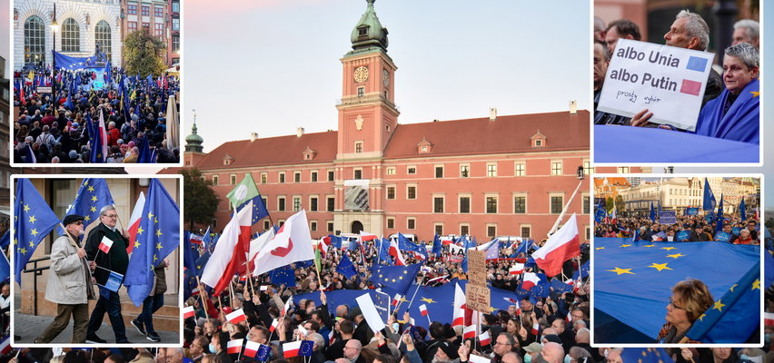 """Czy grozi nam polexit? Manifestacje w całej Polsce. """"Nie chcę żyć w drugiej Rosji"""""""