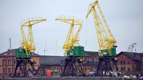 Zabytkowe szczecińskie żurawie portowe odzyskały dawny blask