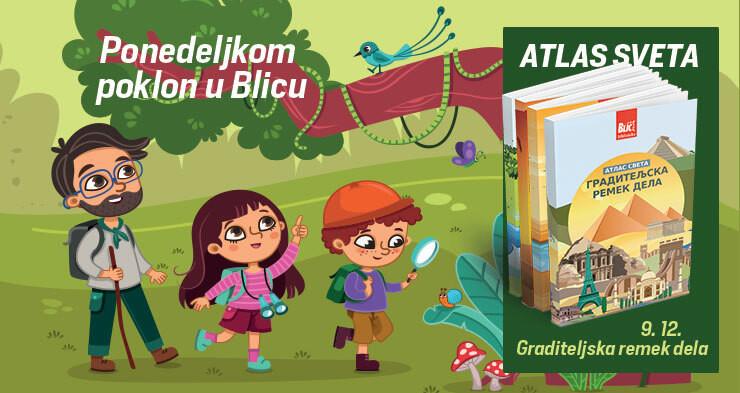 Poklon Atlas ovog ponedeljak u Blicu