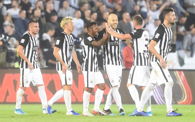 Fudbaleri Partizana na večitom derbiju