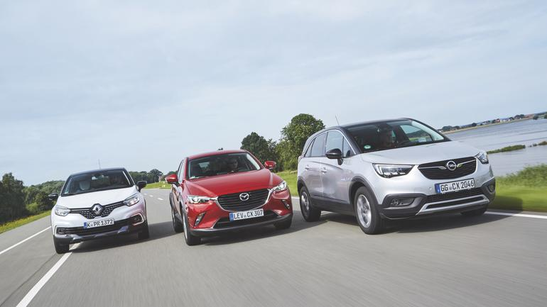 Proównanie: nowy Opel Crossland X kontra Mazda CX-3 i Renault Captur