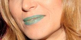 Modowa wyrocznia z zielonymi ustami