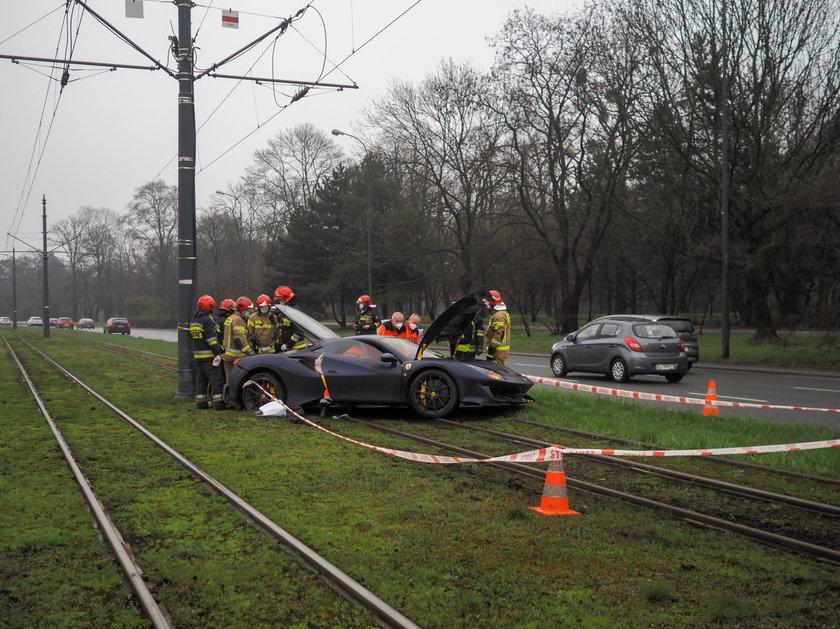 Ferrari na torowisku w Łodzi