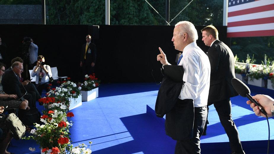 Joe Biden na konferencji w Genewie