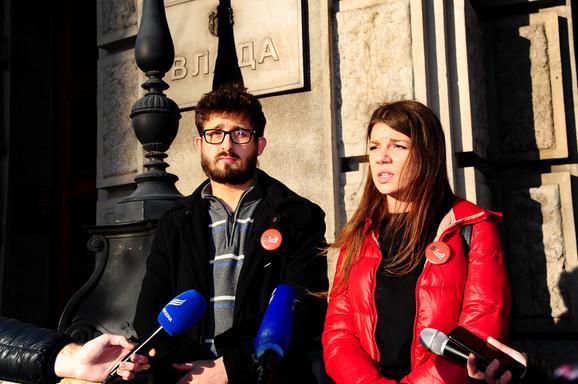 Srđan Marković i Valentina Reković, organizatori protesta