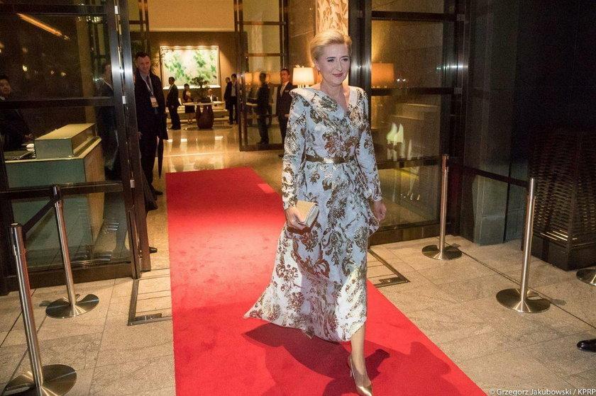 Autorką sukni jest Dorota Goldpoint