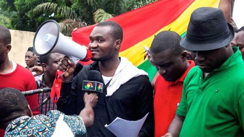 Some members of pressure group, 'Occupy Ghana'