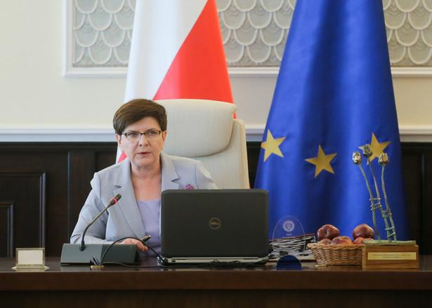 Premier Beata Szydło przed posiedzeniem Rady Ministrów.
