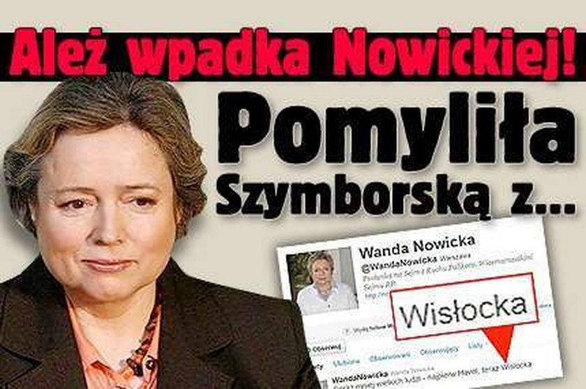 Ależ wpadka Nowickiej! Pomyliła Szymborską z...