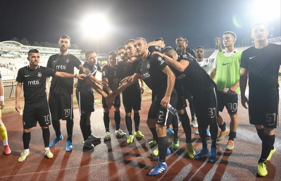 Fudbaleri Partizana slave trijumf protiv Rada