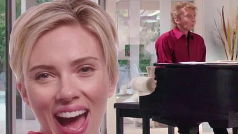 Scarlett Johansson i Barry Manilow śpiewają w zbożnym celu