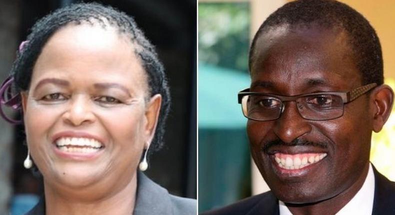 CJ Martha Koome and lawyer Evans Monari