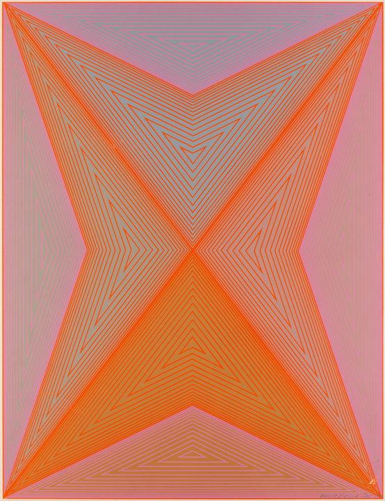"""Wystawa i aukcja """"Grafika artystyczna. Sztuka Współczesna"""". Richard Anuszkiewicz, """"Inward Eye"""" (1970)"""