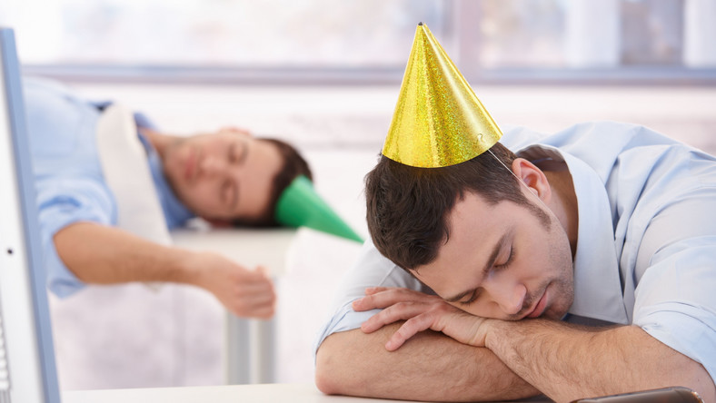 Mężczyzna po imprezie