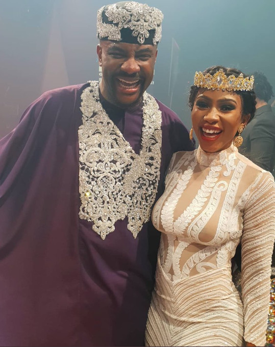 Twitter image: Big Brother Naija Host Ebuka and 2019 winner Mercy Eke
