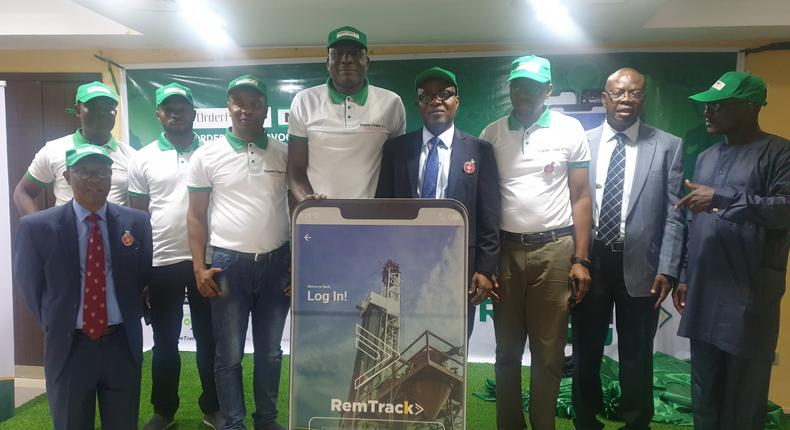Stakeholders at the unveiling of RemTrack app in Lagos on Tuesday, December 3, 2019.