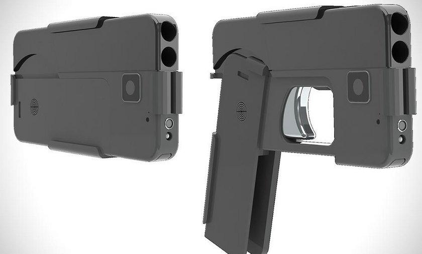 Ten pistolet nie różnie się swoim wyglądem od iphona