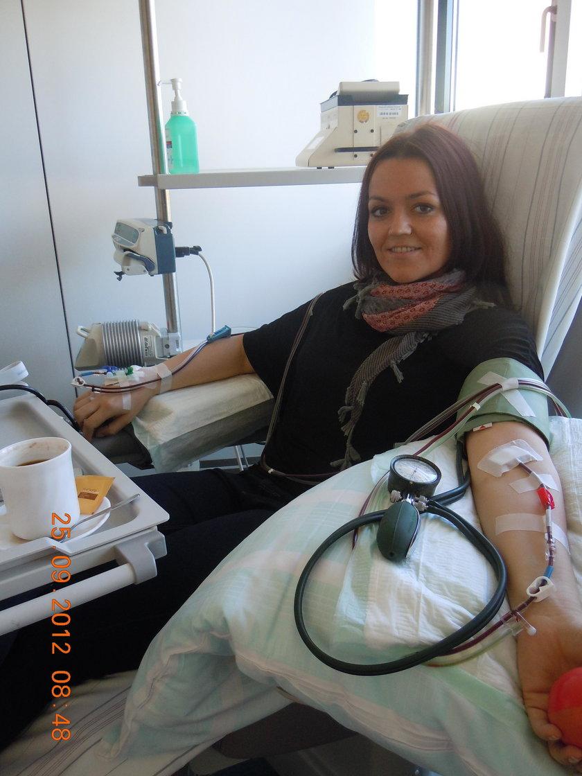 Ewelina oddała komórki macierzyste i uratowała Donalda z USA